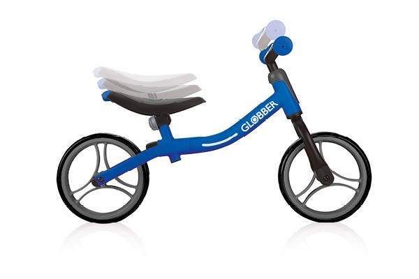 The bike has three adjustable seat heights and two T-bar handle heights so it can grow with your little one.